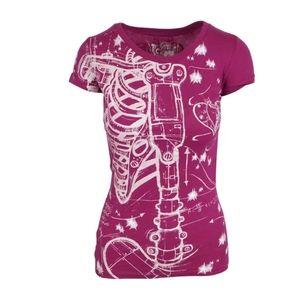 New iron fist skeleton shirt